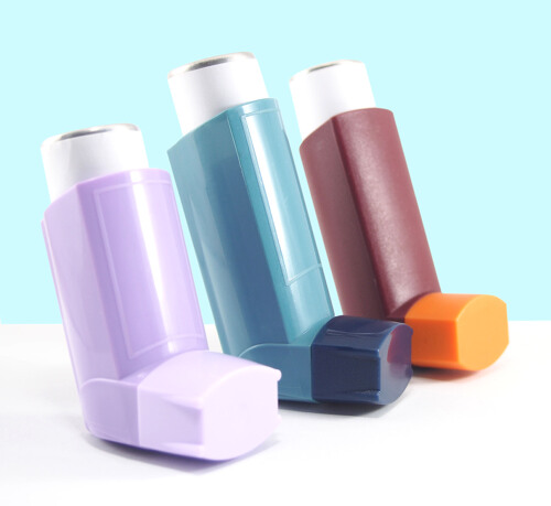 Different coloured inhalers