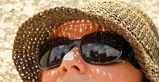 Sunglasses, hats and sunscreen can protect your face