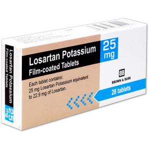 Losartan potassium 25mg 28 tablets