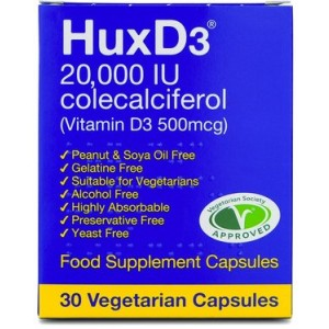 HuxD3 20,000 IU 30 Vegetarian Capsules