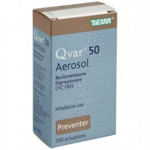 Qvar 50mcg beclometasone preventer inhaler 200 actuations