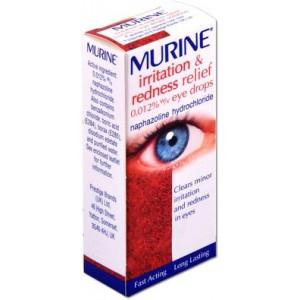 Murine irritation and redness 0.012% naphazoline eye drops