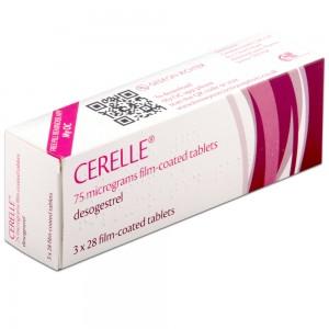 Cerelle 75mcg desogestral 3x28 film-coated tablets