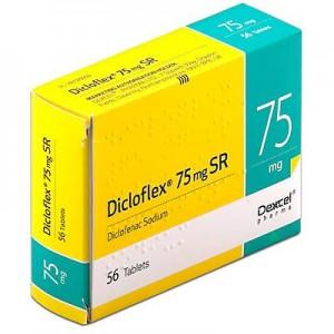 Dicloflex 75mg SR diclofenac anti-inflammatory 56 tablets