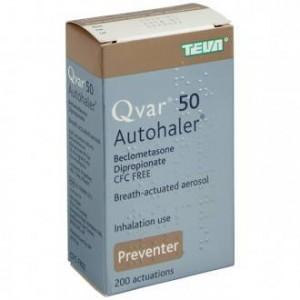 Qvar 50mcg Autohaler preventer asthma inhaler