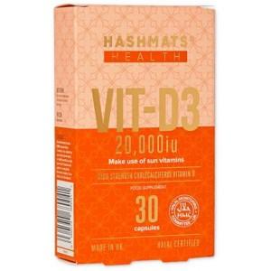 Hashmats Halal Vit-D3 20000 IU 30 tablets