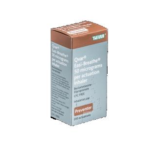 Qvar Easi-Breathe 50mcg preventer asthma inhaler