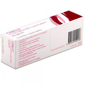 Cerelle mini pill back of box