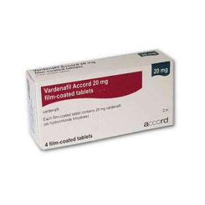 Accord Vardenafil 20mg 4 film-coated tablets