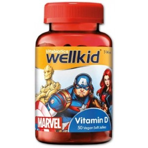 WellKid Marvel Vitamin D 7 to 14 yrs